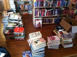 large book stacks