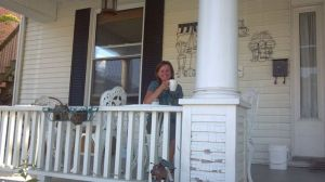 Janelle on porch
