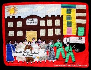 chile arpillera protest