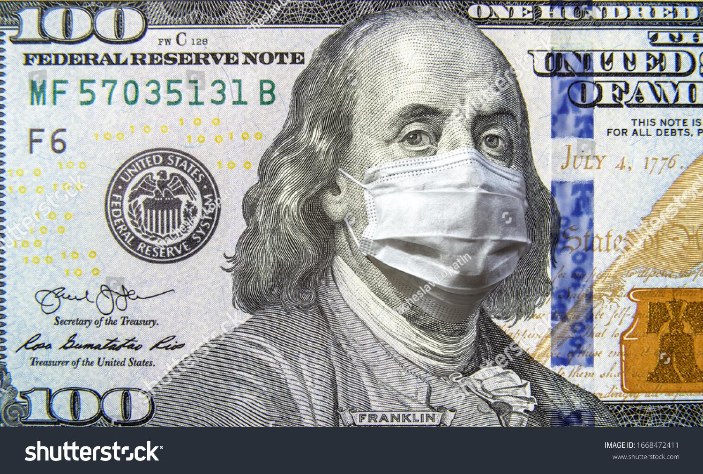 stock-photo-covid-coronavirus-in-usa-dollar-money-bill-with-face-mask-coronavirus-affects-global-stock-1668472411